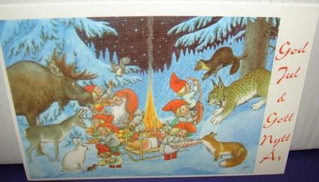 Weihnachts Doppelkarte mit Couvert  144  Rolf Lidberg