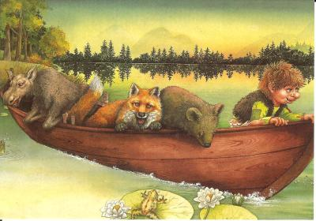 """Postkarte aus dem Buch """"Der kleine Troll"""""""