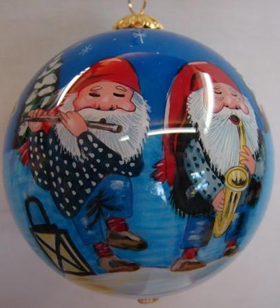 Weihnachtskugel Nissen-Musiker 7.5cm