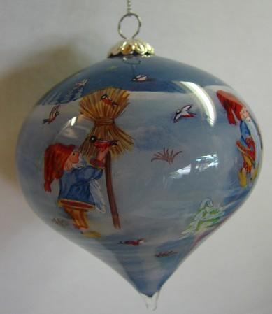 Weihnachtskugel Tropfen 8cm x 9cm
