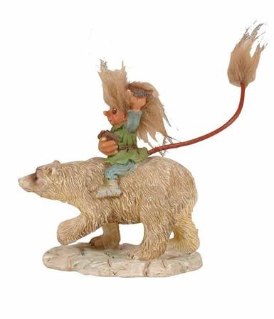 Börge mit Eisbär / der galante Ritter 12cm