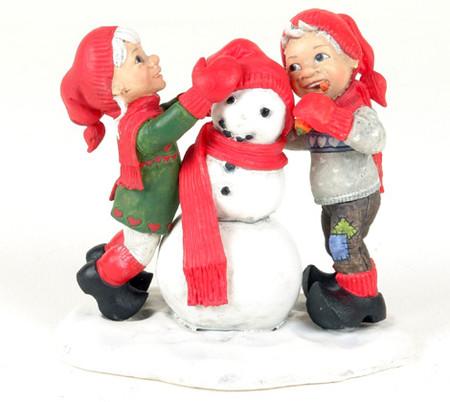 Nora und Hugo die Schneemannbauer 12 x 11cm