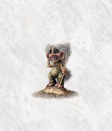 Troll der kleine Opa 9cm