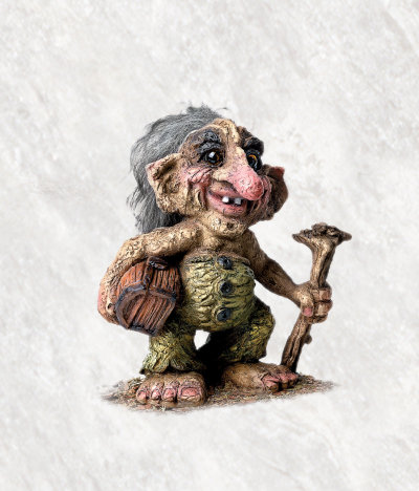 Troll mit Tresor 16.5cm