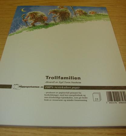 Troll Briefpapier A5 25 Blätter