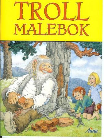 Troll Malebok (Malbuch)