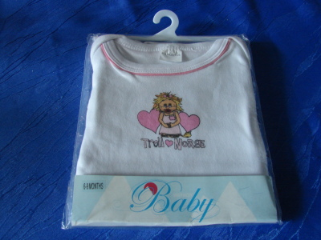 Body Mädchen 6-9 Monate 100% Baumwolle 40 Grad waschbar