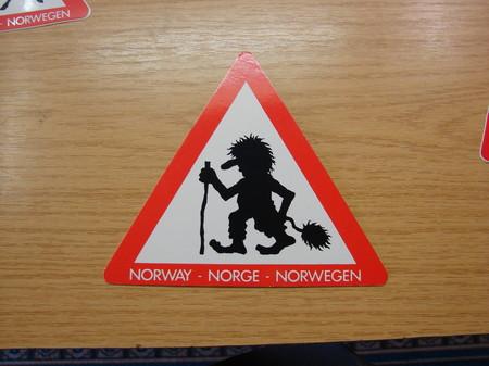 Postkarte Achtung Troll 15cmx15cm