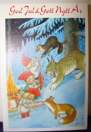 Weihnachts Doppelkarte mit Couvert  146  Rolf Lidberg