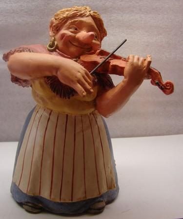 Geigen Spielerin 16cm