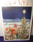 Weihnachts Doppelkarte mit Couvert   107   Rolf Lidberg