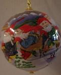 Weihnachtskugel Nissen auf Schlitten 7.5cm
