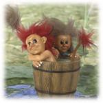 Idar und Iselin in der Badewanne 11cm