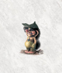Troll Junge mit Mütze 10cm