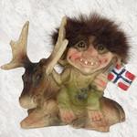 Troll liegt neben Elch (Norwegen Fahne) 8cm