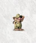 Troll mit Hut klein 11.5cm