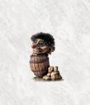Troll klein im Fässli 10cm