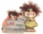 Troll Club Figur 2002 - 2003 Rarität 10cm hoch/15cm breit