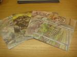 Doppelkarten mit 8 Couverts 4x2 Recycling Papier