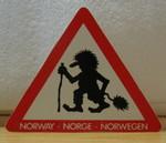 Postkarte Achtung Troll