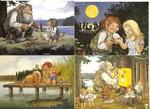 Postkartenset 17: 87 88 89 90