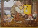 Postkarte Rolf Lidberg Grösse A4 mit Couvert