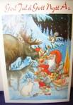 Weihnachts Doppelkarte mit Couvert   145   Rolf Lidberg