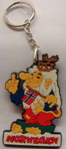 Schlüsselanhänger Trollkönig aus Gummi