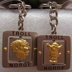 "Schlüsselanhänger aus Metall Troll ""der Jubler"""
