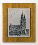 Zinnstich Basler Münster 26 x 22 cm