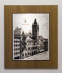 Zinnstich Basler Ratshaus 32,5 x 27 cm