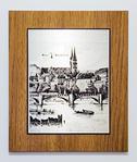 Zinnstich Basler Rheinbrücke 60 x 48 cm Spezial Bestellung möglich