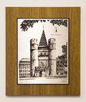 Zinnstich Spalentor 32,5 x 27 cm